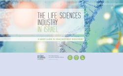 THE LIFE SCIENCES INDUSTRY IN ISRAEL