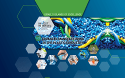 ADVANCED MANUFACTURING IN THE PLASTICS INDUSTRY